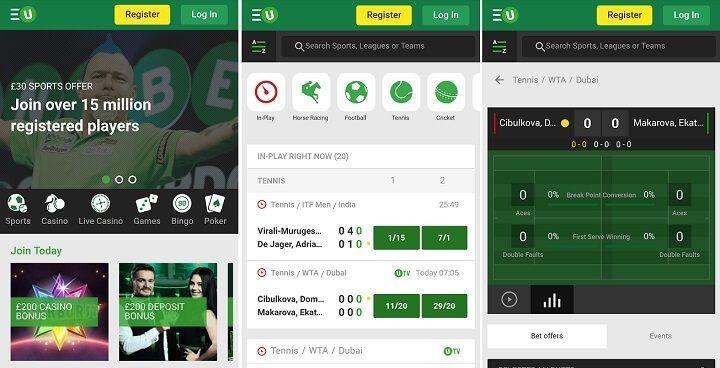 Unibet App mobilen